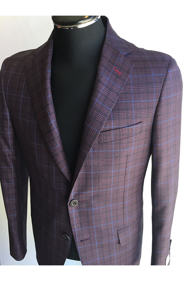 Berry, Black Plaid, Blue Windowpane